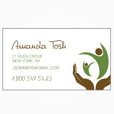 business card with logo