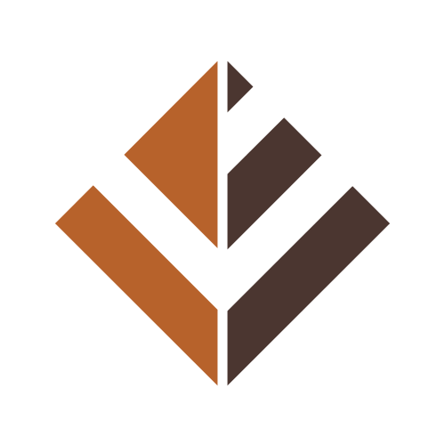 Brown and Orange Pyramid  Logo