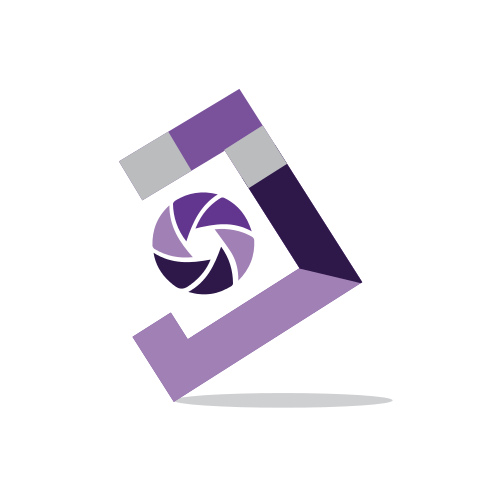 Photography Purple Picture  Logo