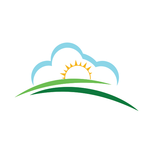 Sunrise Cloud Landscape  Logo