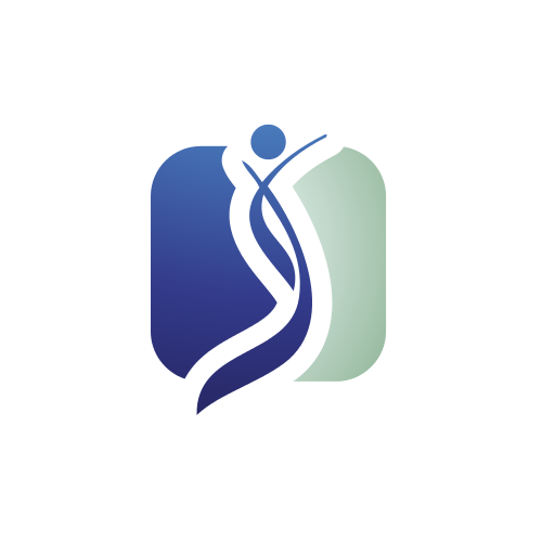 Blue Medical Figure Logo