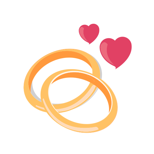 Two Gold Wedding Bands Logo