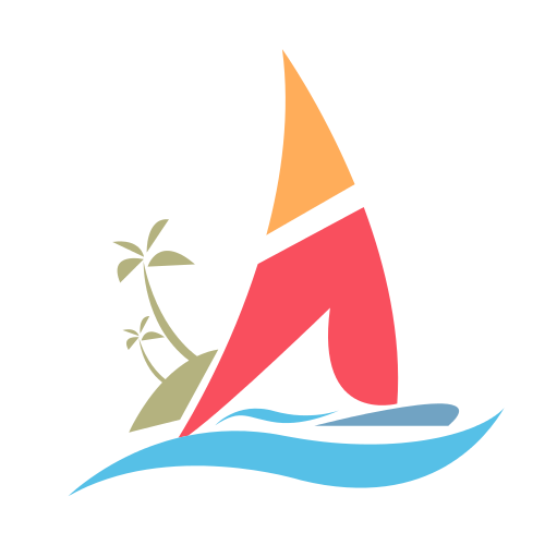 Island Sailboat Cruise Logo