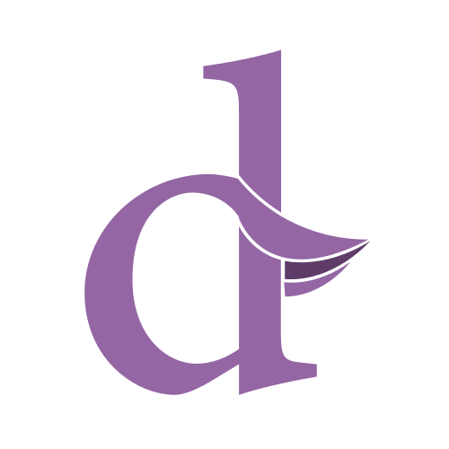 Small Purple Letter D
