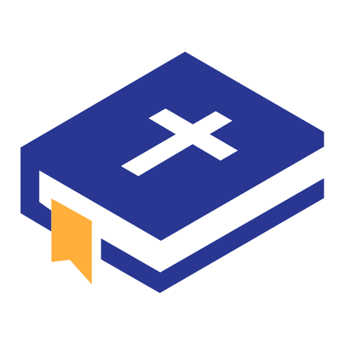 Blue Bible Cross Logo