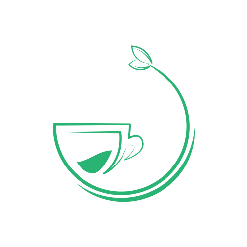 Green Cafe Mug Logo