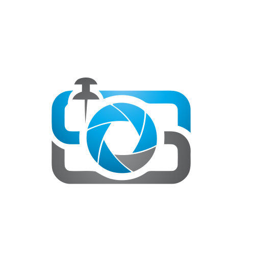 Photography Pin Lens  Logo