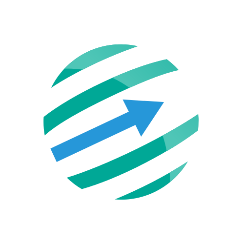 Financial Arrow Globe  Logo