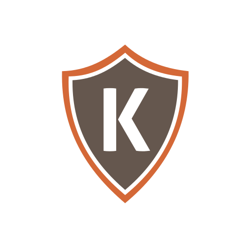 Letter K Shield  Logo
