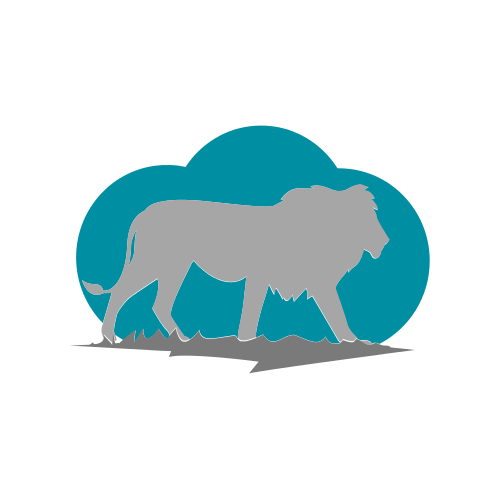 Grey Lion and Blue Cloud Logo