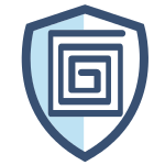 Secure Shield Blue