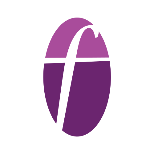 Purple Letter F Logo