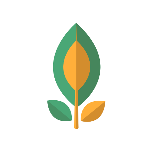 Yellow and Green Plant Logo