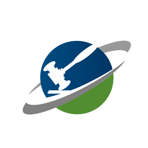 Planet Justice Gavel  Logo