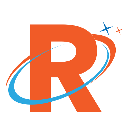 Orange Letter R Swoosh
