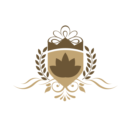 Flower Shield Crown Logo