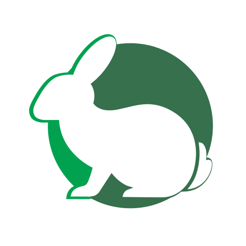 Bunny Circle Animal  Logo