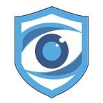 Blue Security Camera