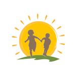 Children Holding Hands Sun