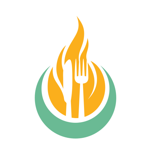 Restaurant Grill Flame  Logo
