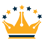 Pen Crown Stars