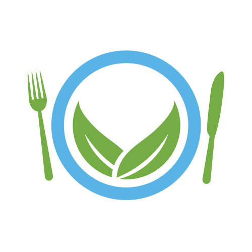 Organic Leaves Plate Logo