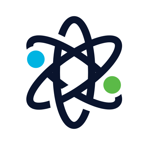 Abstract Atom Symbol Logo