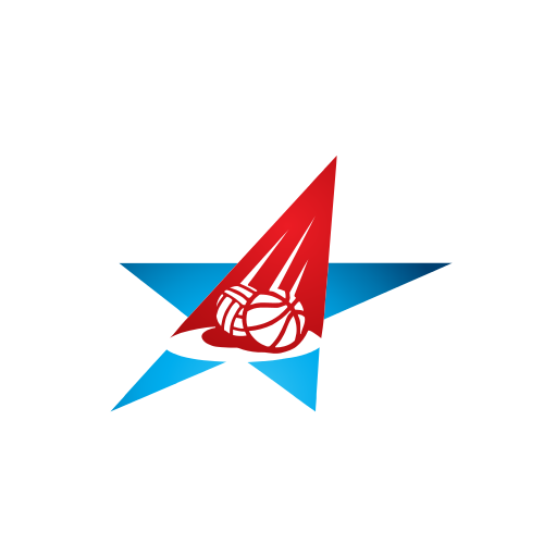 star, red, blue, basketball