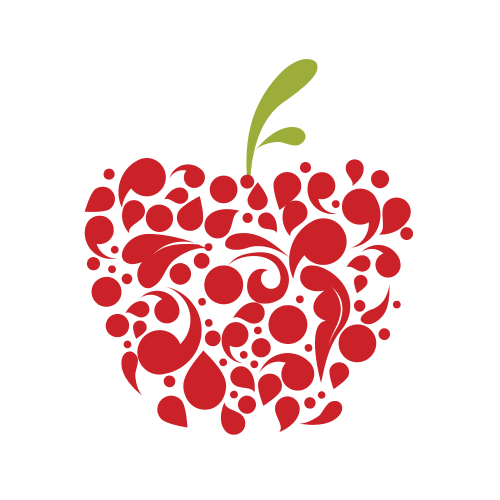 Red Floral Apple