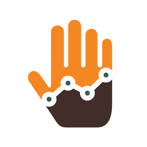 Accounting Hand Chart Logo