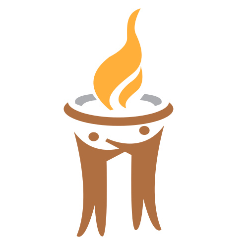 People Holding Torch Logo