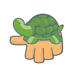 Green Turtle Hand
