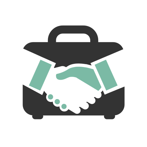 Handshake Business Briefcase Logo