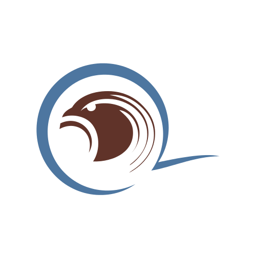 Brown Eagle and Beak Logo