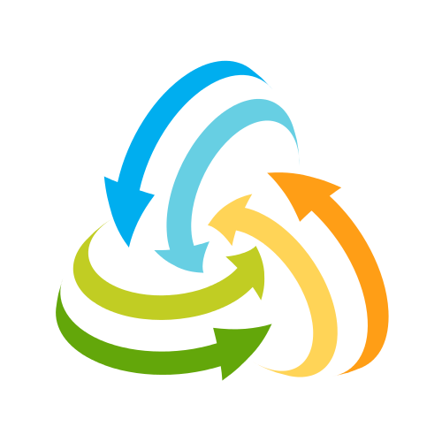 Colorful Recycling Arrows  Logo