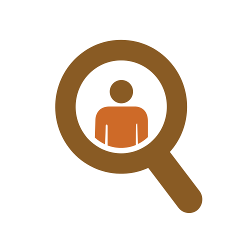 Magnifying Glass Man Logo