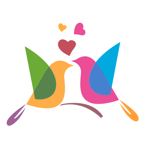 Dating Colorful Birds Logo