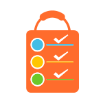 Orange Shopping Bag Checklist