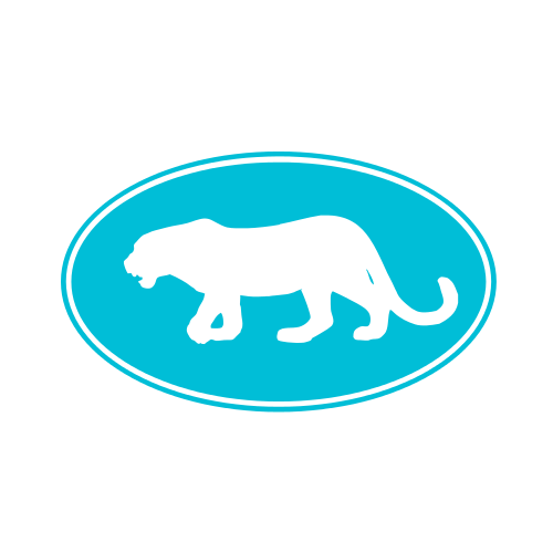 Turquoise Panther Animal  Logo