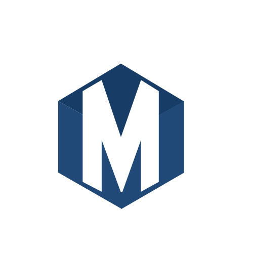 Letter M Hexagon  Logo