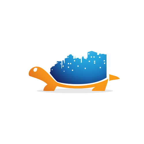 Business Turtle Cityscape  Logo