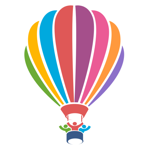 People in Balloon Logo