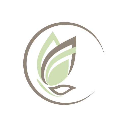 Flying Bird and Leaves Logo