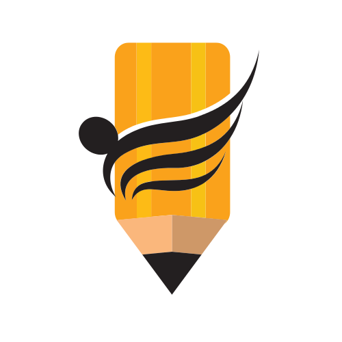 Yellow Pencil Education Logo Graphicsprings