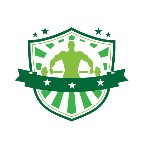 weight lifting, body buiding, barbell, shield, green, star