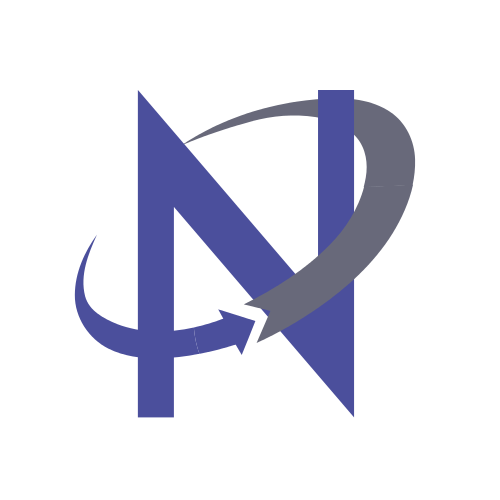 Purple Letter N Arrows  Logo