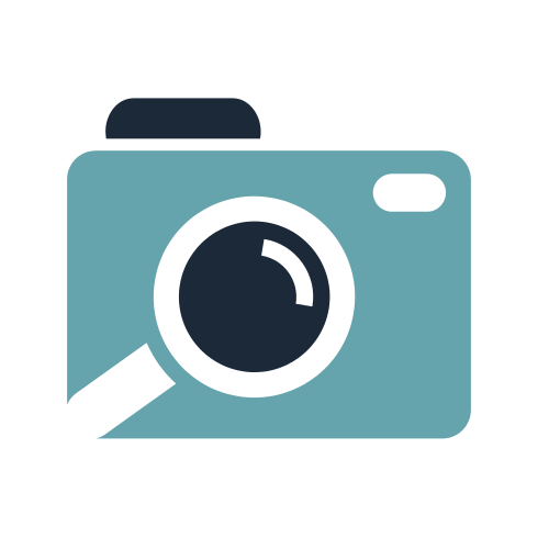 Blue Photo Camera  Logo