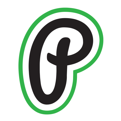 Green Letter P Outline  Logo