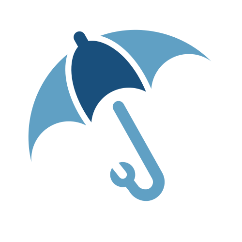 Construction Wrench Umbrella  Logo