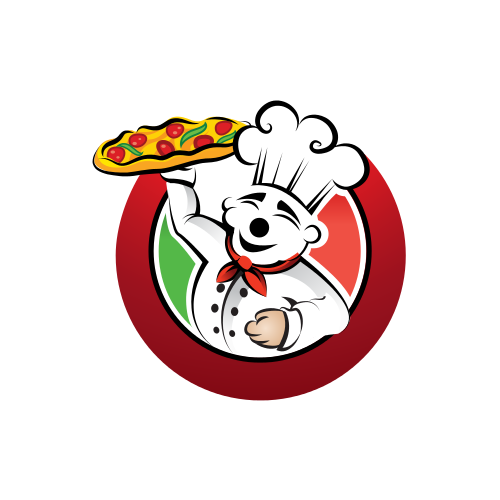 Italian Pizza Chef Logo
